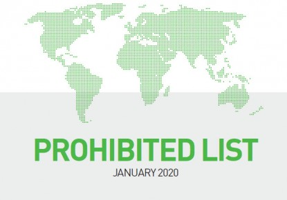 WADA published 2020 List of Prohibited Substances and Methods