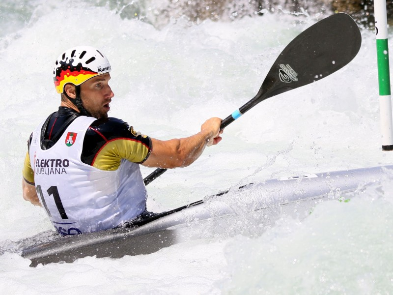 Alexander Grimm waves goodbye to professional canoe slalom
