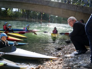 Thomas Bach, IOC president, visited canoe slalom course in Ljubljana – Tacen
