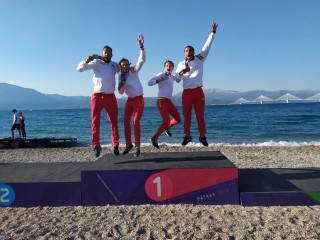 Spanish and French celebration at II Mediterranean Beach Games