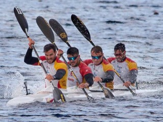 Spain sends all stars K4 to European Championships in Belgrade