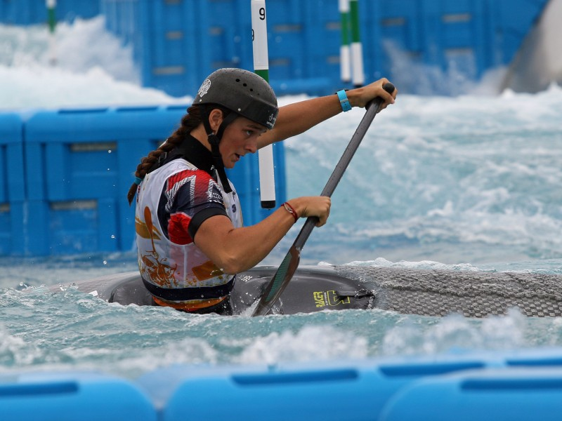 Canoe Slalom paddlers competed at pre-Olympic race in Tokyo