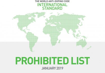 WADA's 2019 List of Prohibited Substances and Methods