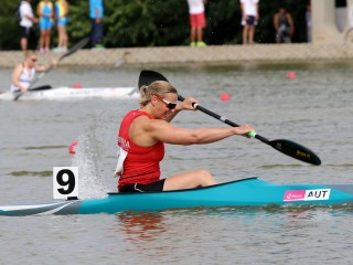 Yvonne Schuring ended her competitive canoe sprint career